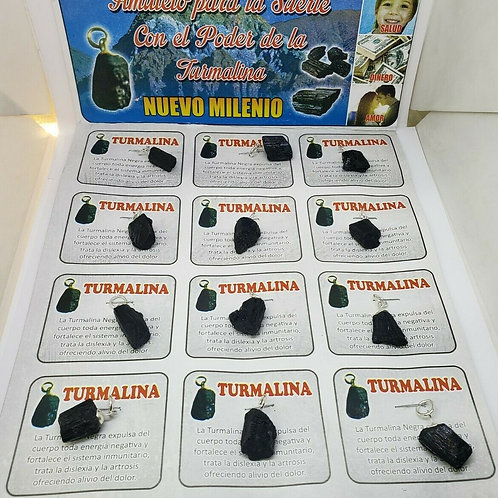 TURMALINA NEGRA 12 PCS LOT CUARZO PROTECCION Y DINERO ORACION E INSTRUCCIONES
