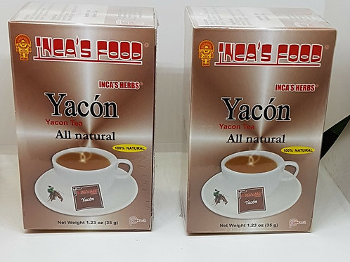YACON 50 TEA BAG HERBS 100% NATURAL BLOOD SUGAR REGULATOR FROM PERU