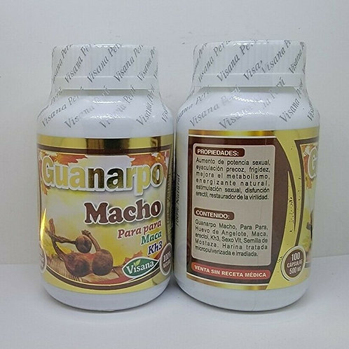 HUANARPO MACHO 100 CAPS 500mg EA MALE ENERGY SUPPORT 100% NATURAL FROM PERU