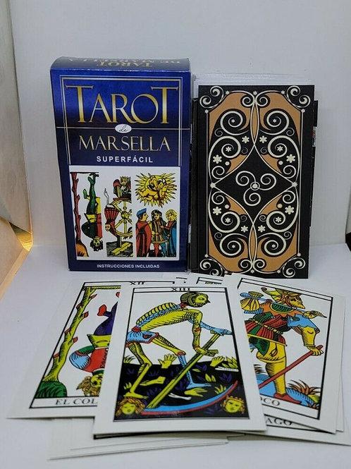 TAROT DE MARSELLA SPANISH 78 CARTAS INSTRUCCIONES INCLUIDAS