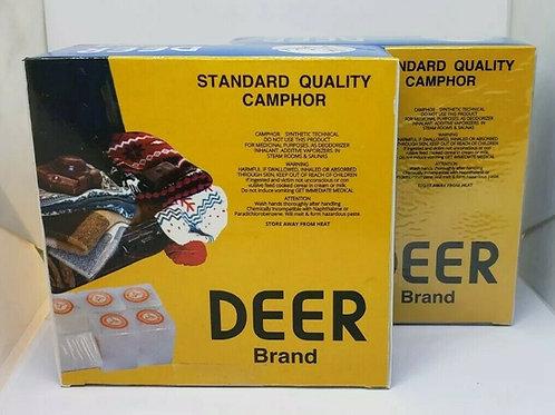 ALCANFOR / CAMPHOR DEER BRAND 1 POUND 100% PURE ORIGINAL 16 BLOCKS (64 TABLETS)