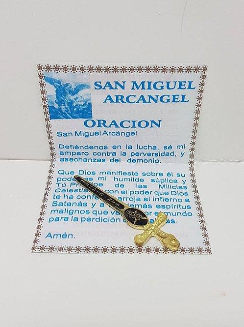 ESPADA DE SAN MIGUEL PEQUEÑA PARA PROTECCION ORACION INCIENSO INSTR INCLUIDOS!