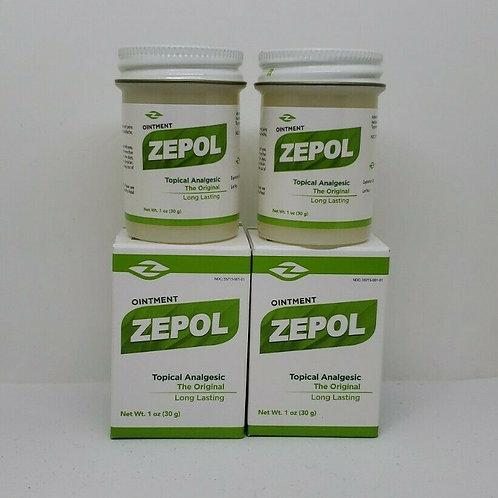 ZEPOL 2 PCS 1oz UNGUENTO FROTACION RESFRIOS DOLORES MUSCULARES ON SALE !