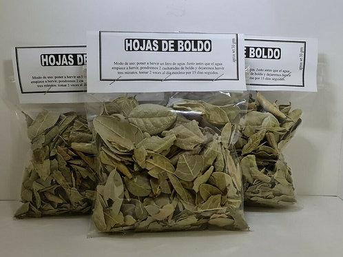 HOJAS DE BOLDO 90 GR HIGADO GRASO,INDIGESTION,VESICULA, CONGESTION DE PECHO,TOS