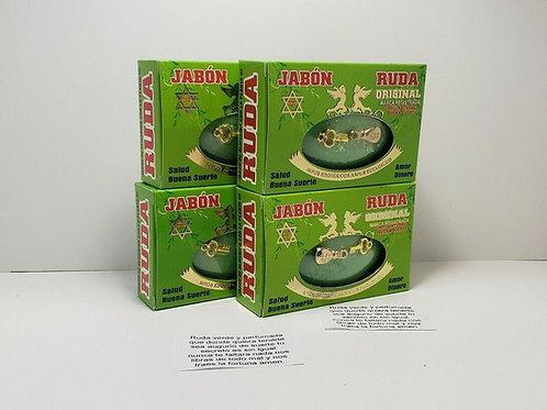 JABON DE RUDA 4 Pcs /RUE SOAP PARA PROTECCION Y DINERO GRATIS AMULETO Y ORACION
