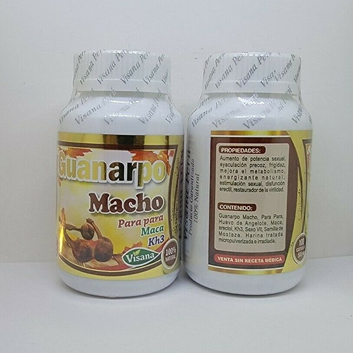 HUANARPO MACHO 200 CAPS 500mg EA MALE ENERGY SUPPORT 100% NATURAL FROM PERU