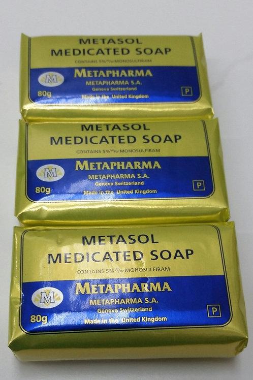 METASOL SOAP 3 Pcs X 80 Gr EA SKIN RASH ACNE JABON MEDICADO PIEL SARNA