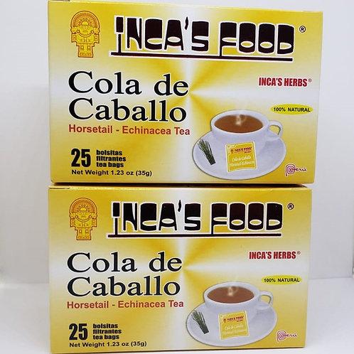 COLA DE CABALLO 50 TEA BAGS CONGESTION NASAL BRONQUIOS / HORSE TAIL 100% NATURAL