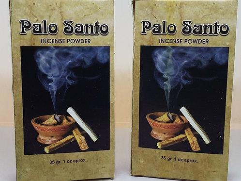 PALO SANTO HOLLY WOOD POWDER INCENSE 2oz ORGANIC 2 box 35 Gr EA FREE PRAYER !!