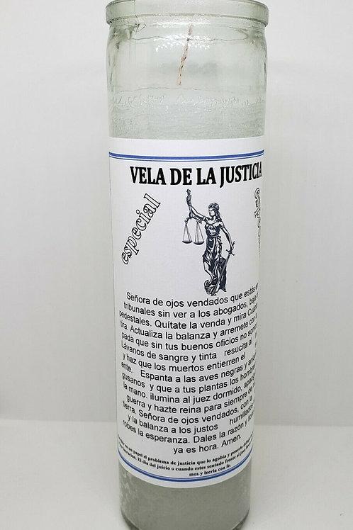 VELA DE LA JUSTICIA ESPECIAL PARA CASOS DE CORTE ORACION E INSTRUCCION INCLUIDAS