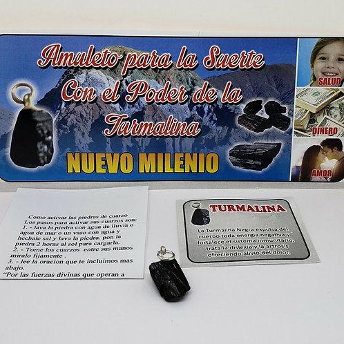 TURMALINA NEGRA CUARZO PARA PROTECCION Y DINERO ORACION E INSTRUCCIONES INCLUIDA