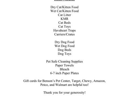 Please help support our local Pets!