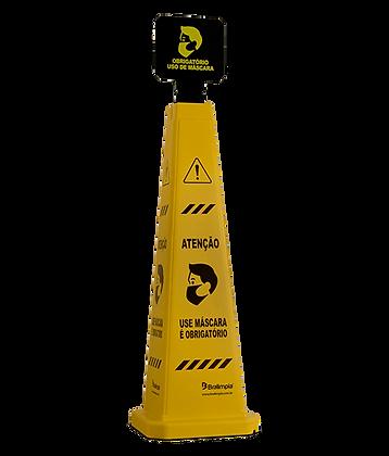 Cone Sinalizador Uso de Mascar Bralimpia