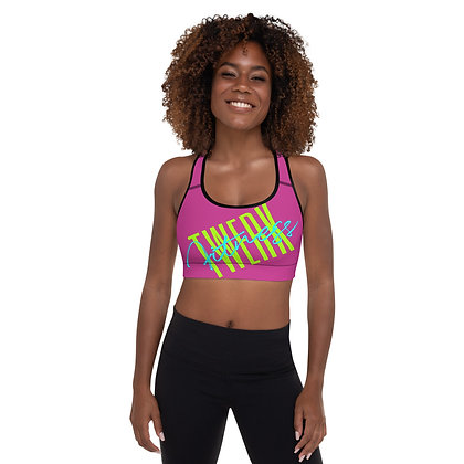 Colorful Twerk Fitness Padded Sports Bra
