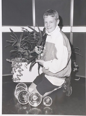 Mark Johnston St Thomas ASC Wins Top Boy at City of Dundee Jnr Sprint Meet - 24/11/1995