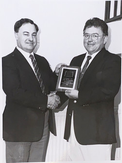 Alex Smith presented with Honorary Life Membership by Eddie Wilmott - 29/06/1990