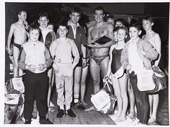 Robin Brew, GB Olympic Swimmer visits St Thomas ASC - 1984