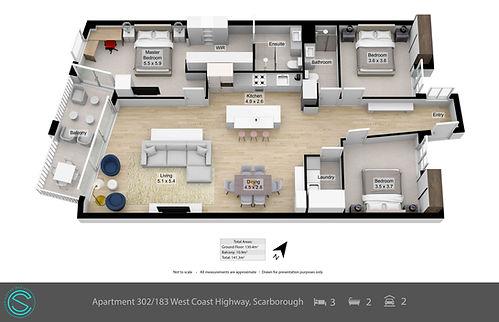 Apartment 302183 West Coast Highway, Sca