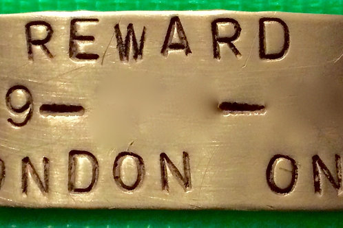 "3"" Brass Hand-Stamped Nameplate"
