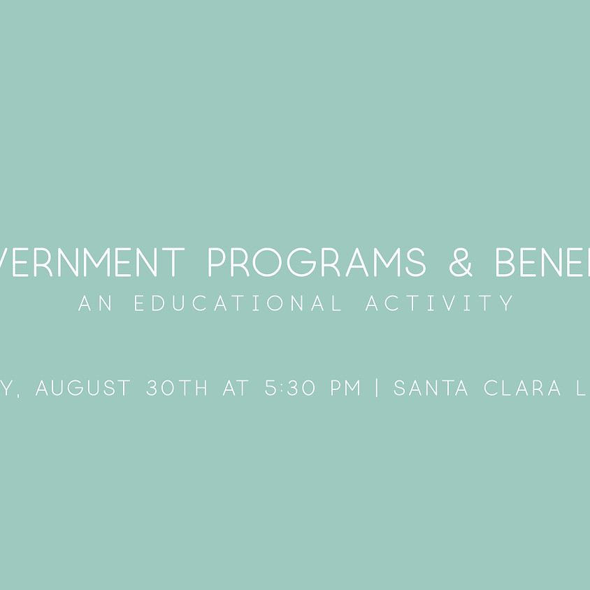 Government Programs & Benefits: An Educational Activity