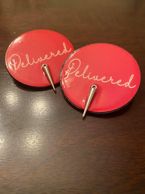 Earrings (Delivered) Red