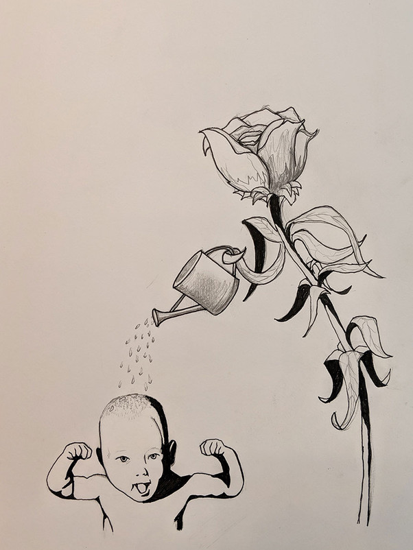 Pen, ink, and graphite on paper
