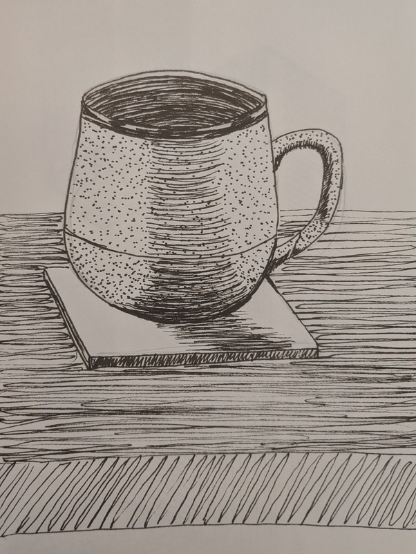Morning Coffee Sketch