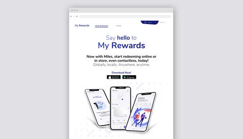 My Rewards - Landing Page