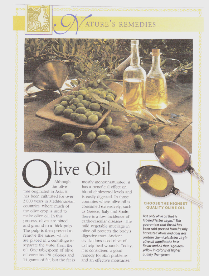 Nature's Remedies: Olive Oil