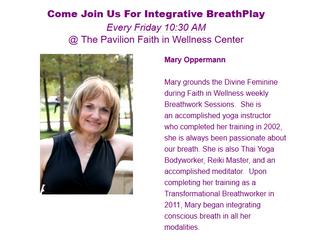 Integrative Breathwork, every week!