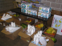 Hydration Station supplies