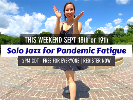 """""""Solo Jazz for Pandemic Fatigue"""" free public workshop"""