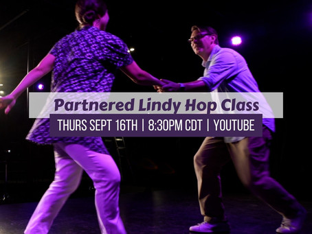 Partnered Lindy Hop Class Thursday 9/16/21