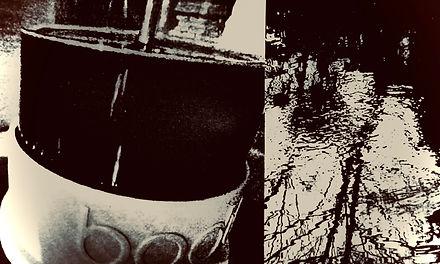 Orange Peel Floating on the Coffee image
