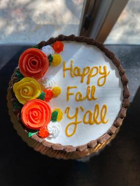 Happy Fall Y'all Cake
