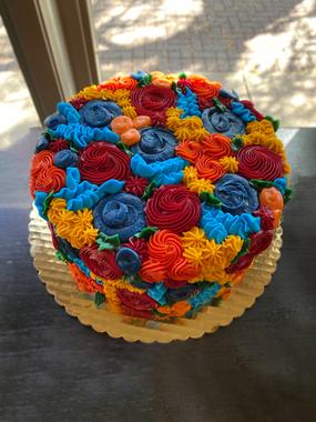 Fall Inspired Flower Cake