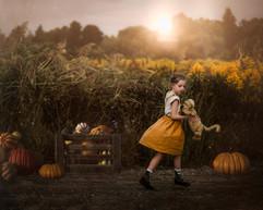 Child_Yellow_Dress_Pumpkin_Fall_Hamilton