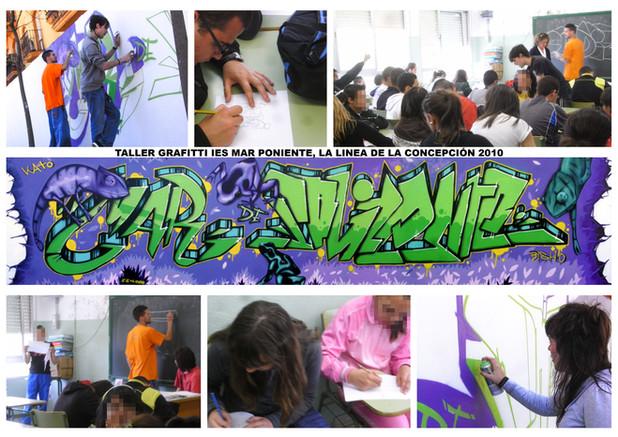 Taller de Graffitis IES Mar Poniente, La Linea de la Concepcion 2010