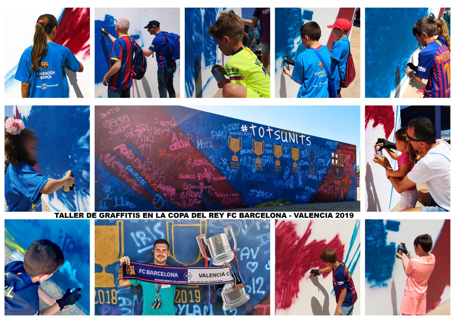 Taller de Graffitis en la Copa del Rey FC Barcelona - Valencia 2019
