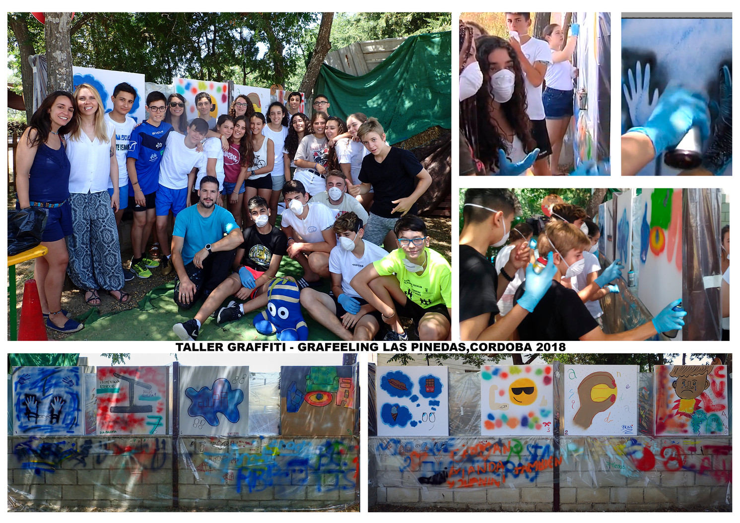 Taller de Graffitis - Grafeeling Las Pinedas,Cordoba 2018