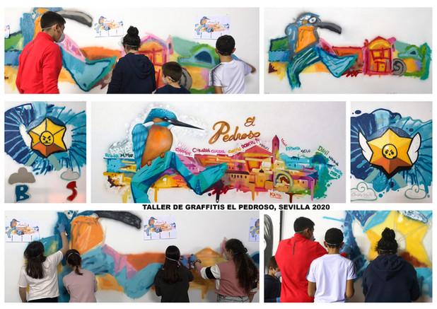 Taller de Graffitis El Pedroso, Sevilla 2020