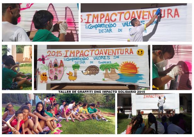 Taller de Graffitis ImpactoAventuras 2015 - ONG Impacto Solidario