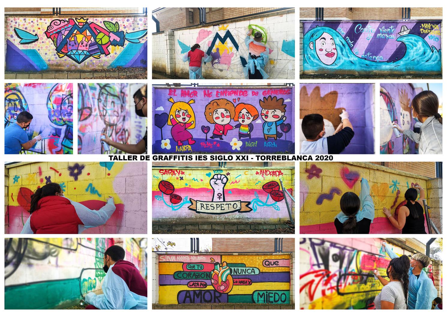 Taller de Graffitis IES Siglo XXI - 2020