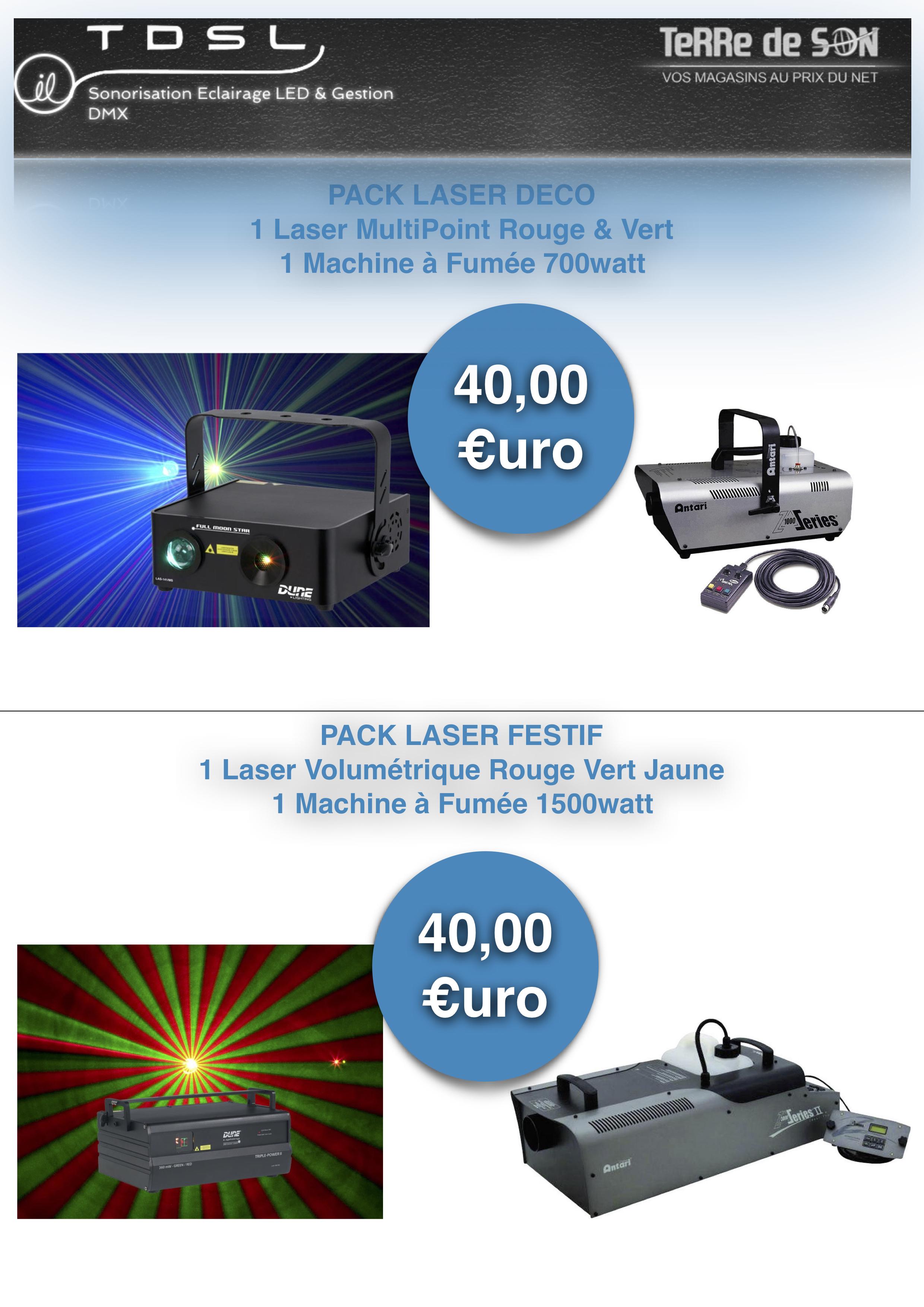 Pack Laser avec machine a fumée