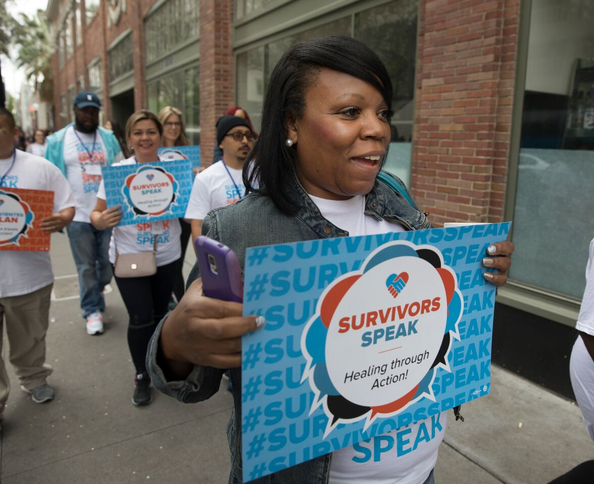 Survivors Speak Dallas Chapter Coordinator Kimesha Coleman