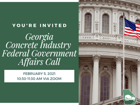 Georgia Concrete Industry Federal Government Affairs Zoom Call