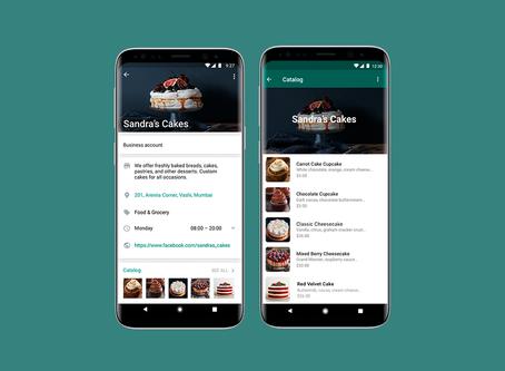 WhatsApp Business libera catálogo de produtos dentro do aplicativo