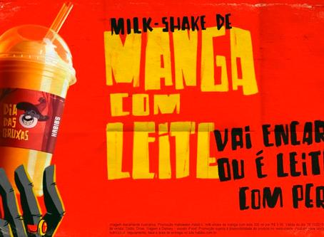 """Habib's lança milk shake de """"manga com leite"""" para o Halloween"""