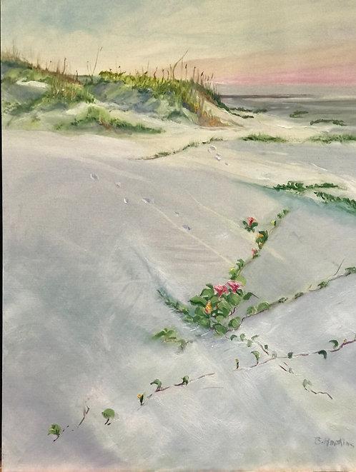 Beach Morning Glory, 2 by Barbara Hopkins