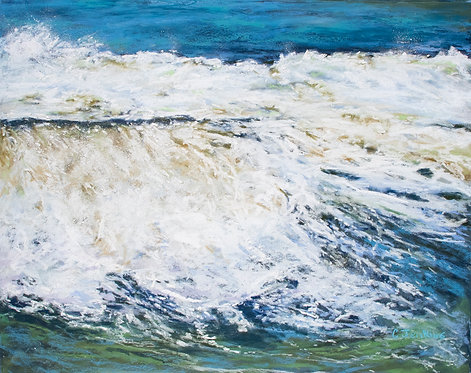 Triptych - Nor'easter III by Cindy Jenkins